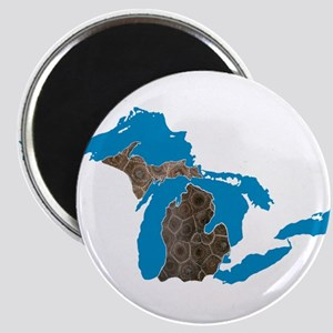 Great lakes Michigan petoskey stone Magnet