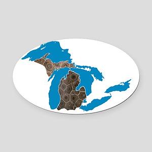 Great lakes Michigan petoskey stone Oval Car Magne