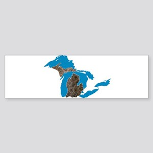 Great lakes Michigan petoskey stone Bumper Sticker