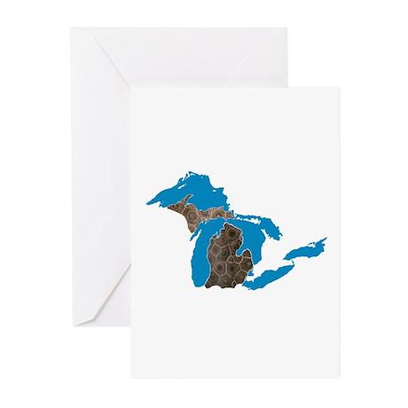 Great lakes Michigan petoskey stone Greeting Cards