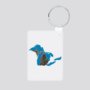 Great lakes Michigan petoskey stone Keychains