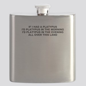 PLATYPUS IN THE MORNING Flask