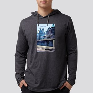 Ann Arbor Train Station Mens Hooded Shirt