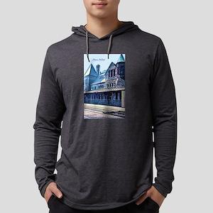 Ann Arbor Train Station Mens Hooded Shirt