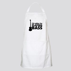 I'd rather be playing bass BBQ Apron