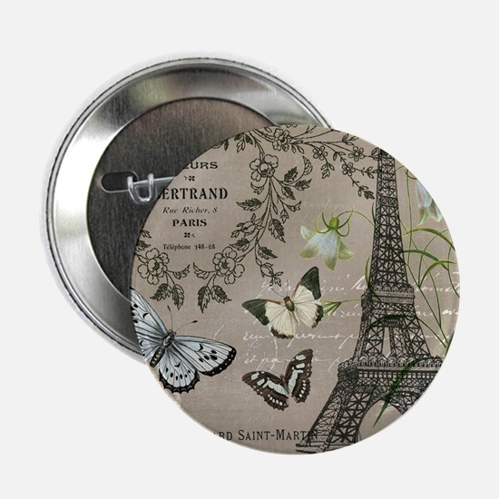 """Vintage French Eiffel Tower 2.25"""" Button (100 pack"""