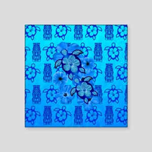 Blue Honu Blue Tiki Sticker