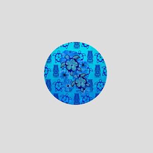 Blue Honu Blue Tiki Mini Button
