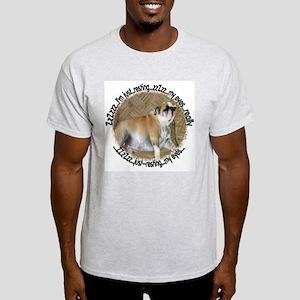 Just Resting My Eyes Bulldog Ash Grey T-Shirt