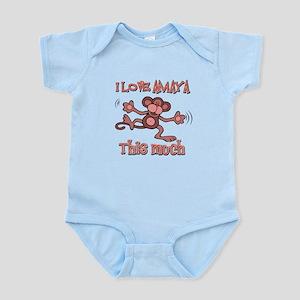 I love Amaya this much Infant Bodysuit