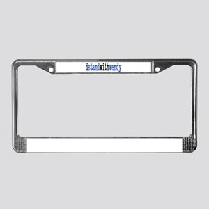 I Stand With Wendy typewriter License Plate Frame