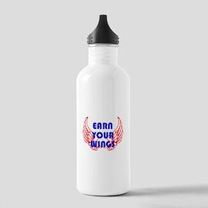 Earn your wings Water Bottle