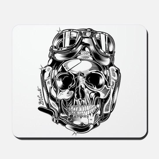 Aviator Skull Mousepad