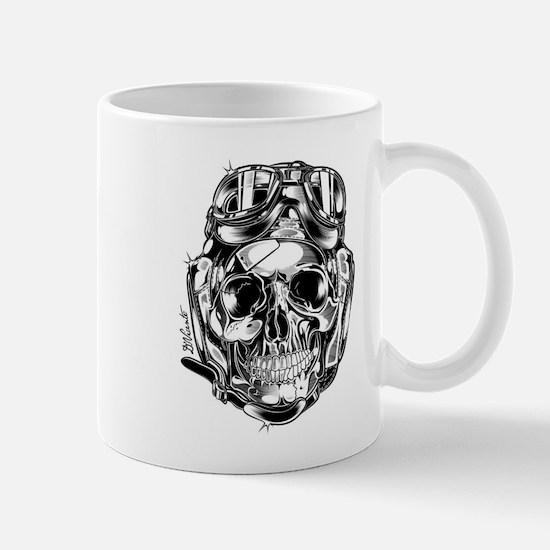 Aviator Skull Mug