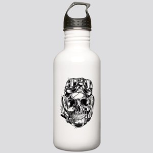 Aviator Skull Water Bottle