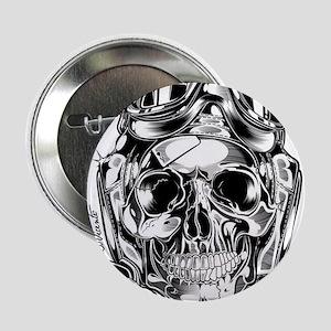 """Aviator Skull 2.25"""" Button"""