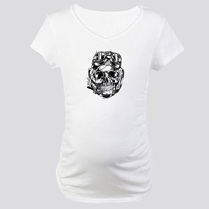 Aviator Skull Maternity T-Shirt