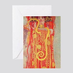Gustav Klimt Medicine Greeting Cards