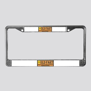 Old Fart Motto License Plate Frame