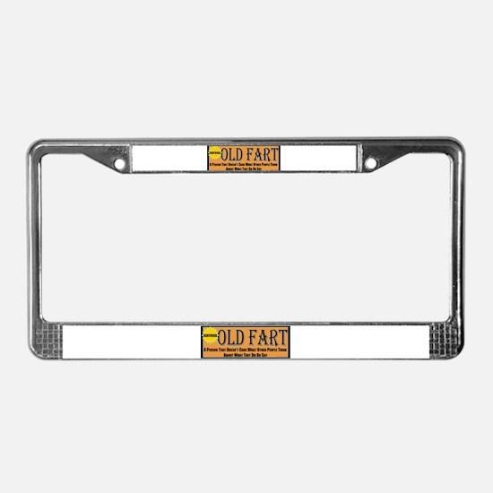 Old Fart Motto License Plate Frame
