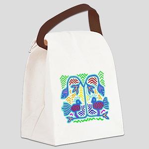 TROPICAL BIRDS Canvas Lunch Bag