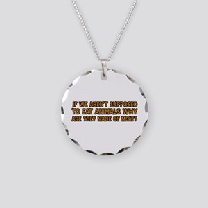 Funny Designs Necklace Circle Charm