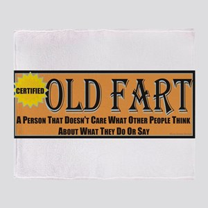 Old Fart Motto Throw Blanket