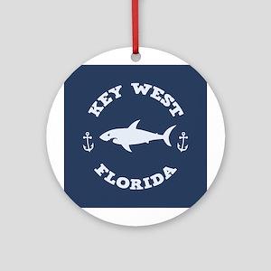 Sharking Key West Ornament (Round)