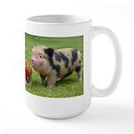 Micro pig with strawberries Mug