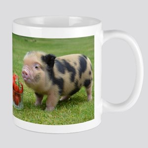 Micro pig with strawberries Small Mug