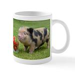 Micro pig with strawberries Small Mug