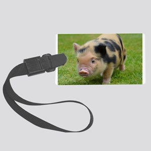 Little Spotty micro pig Large Luggage Tag