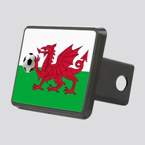 Wales Football Flag Rectangular Hitch Cover