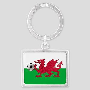 Wales Football Flag Landscape Keychain