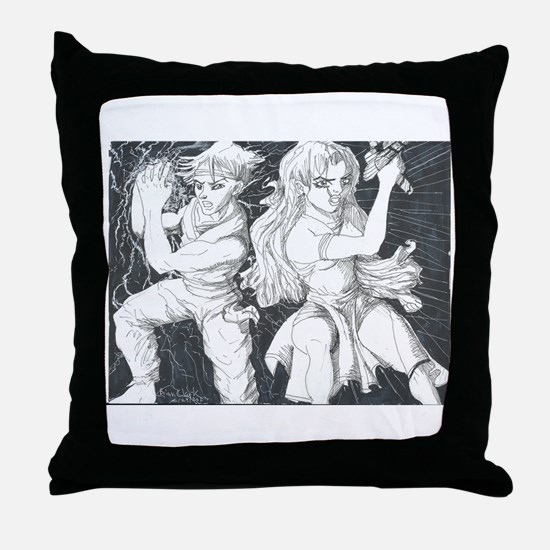 Original Manga Character Pose Throw Pillow