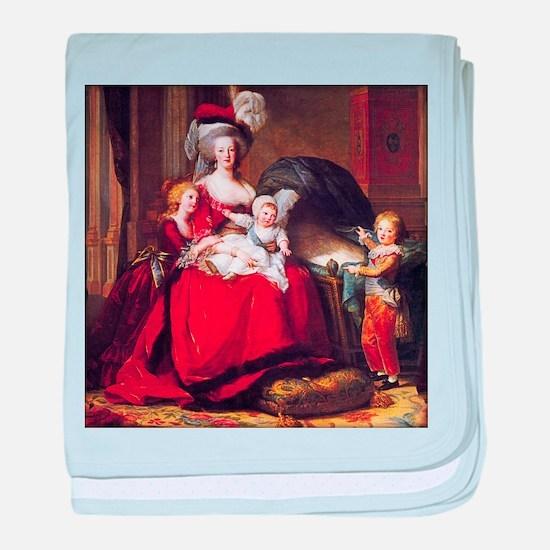 Lebrun: Marie Antoinette & children baby blanket