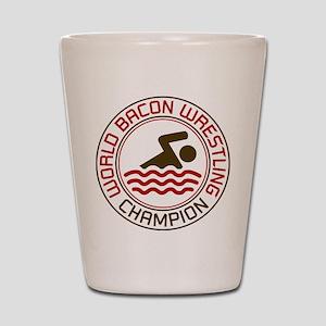 World Bacon Wrestling Champion Shot Glass