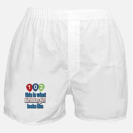 102 year old birthday girl Boxer Shorts