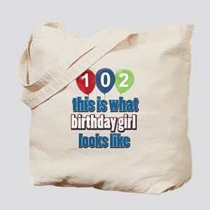 102 year old birthday girl Tote Bag