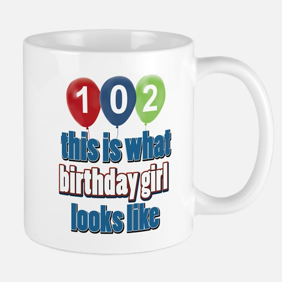102 year old birthday girl Mug