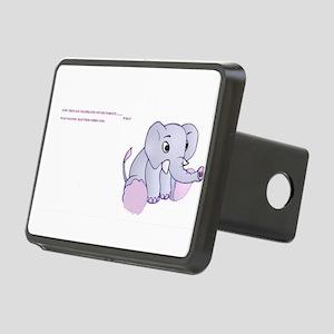 fibro elephant Rectangular Hitch Cover
