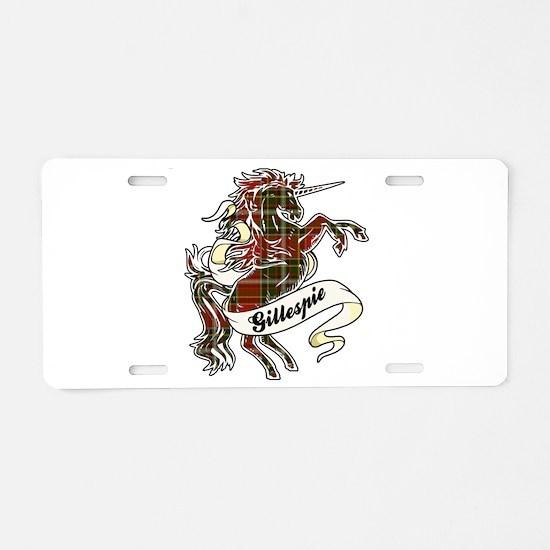Gillespie Unicorn Aluminum License Plate