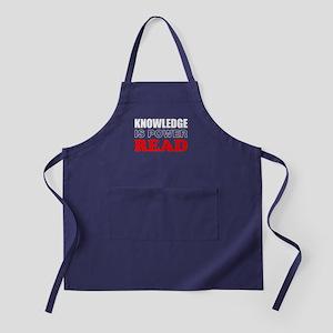Knowledge Is Power Apron (dark)