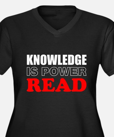 Knowledge Is Power Plus Size T-Shirt