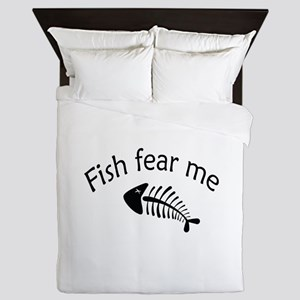Fish fear me Queen Duvet