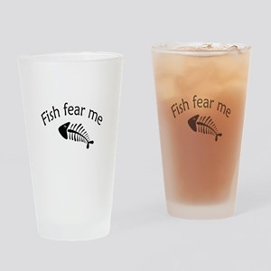 Fish fear me Drinking Glass