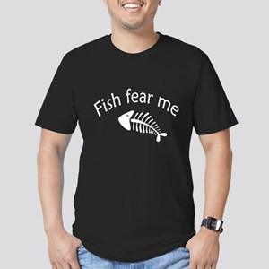 Fish fear me Men's Fitted T-Shirt (dark)