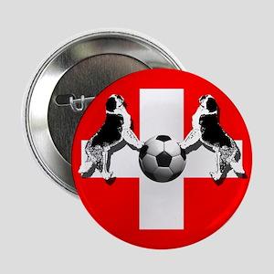 """Swiss Football Flag 2.25"""" Button"""