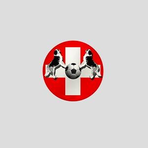 Swiss Football Flag Mini Button