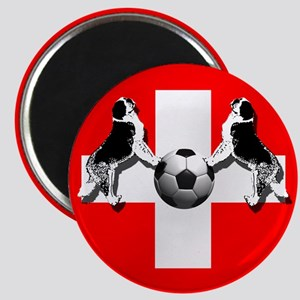 Swiss Football Flag Magnet